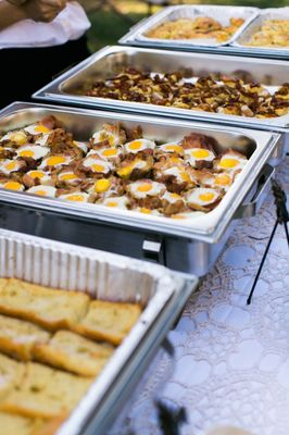 Bacon And Eggs Picnic Wedding Reception
