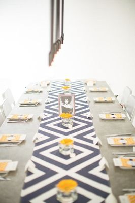 Modern Navy and Yellow Wedding
