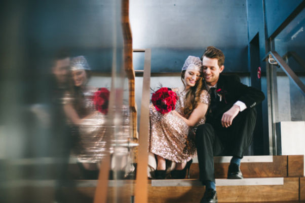 Romantic Red And Black Wedding