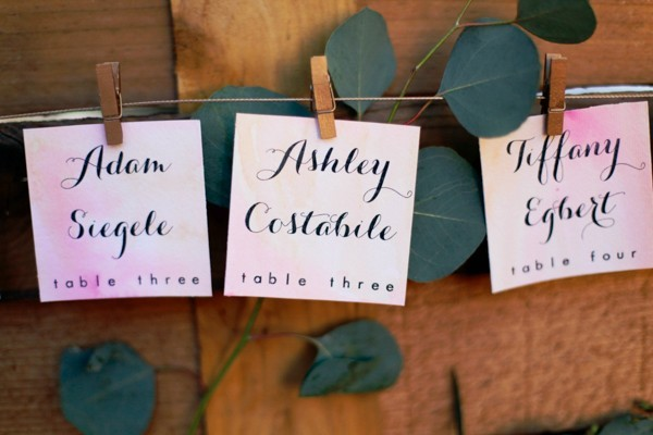 Orange And Pink Watercolor Wedding Ideas