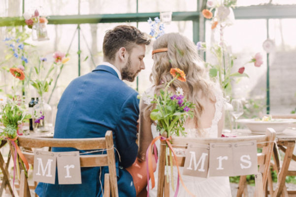 Greenhouse Wedding With Tons Of Color