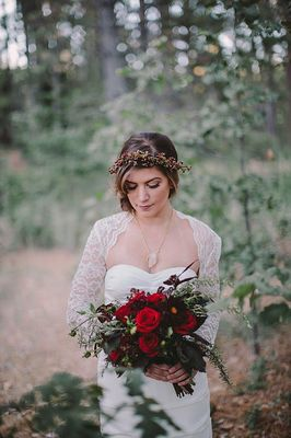 Bold And Earthy Woodland Wedding