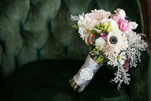 Green And Silver Glam Wedding
