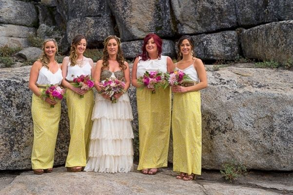 Clearly Colorful California Wedding At The he HideOut