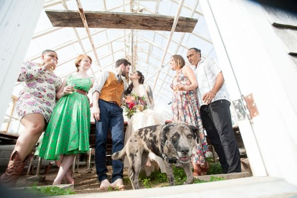 Intimate Summer Greenhouse Wedding