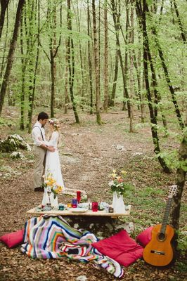 Beautiful And Bright Forest Wedding In Italy