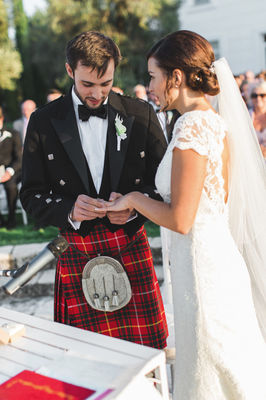 Traditional Black and White Wedding
