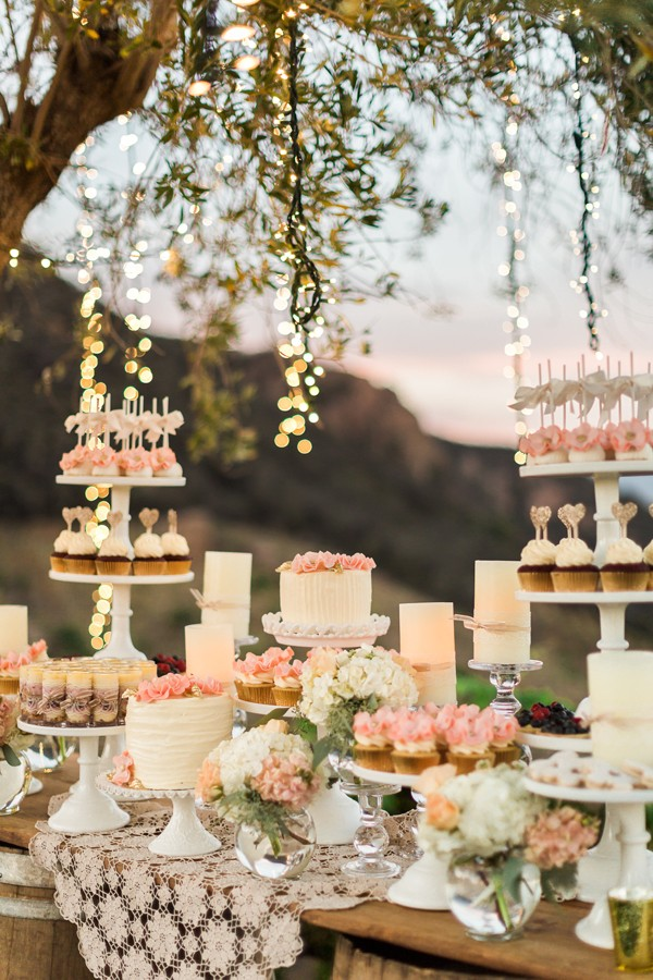 Classy Ranch Wedding in Gold and Pink