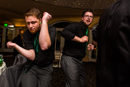 These dudes know how to get their groove on the wedding dance floor!