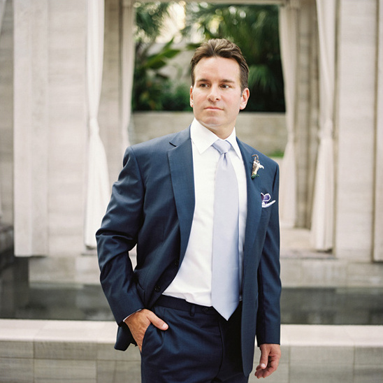 classic navy and blue groom look