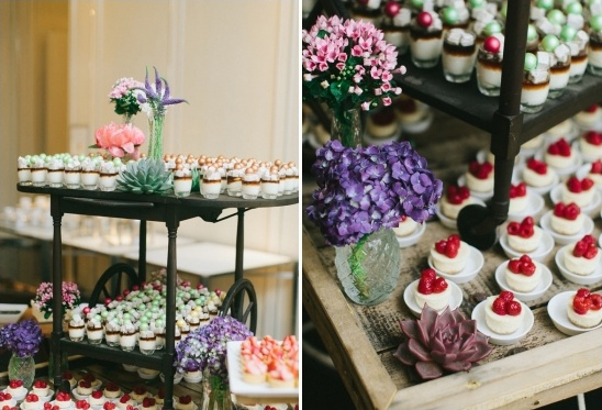 mini desserts table