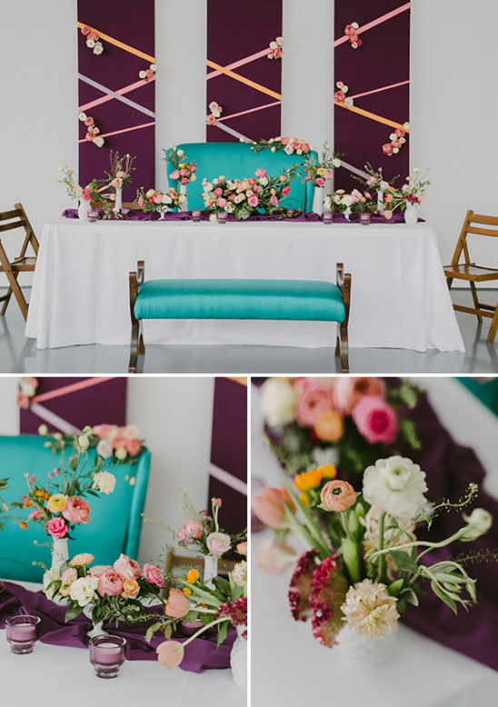 blue and purple bridal shower