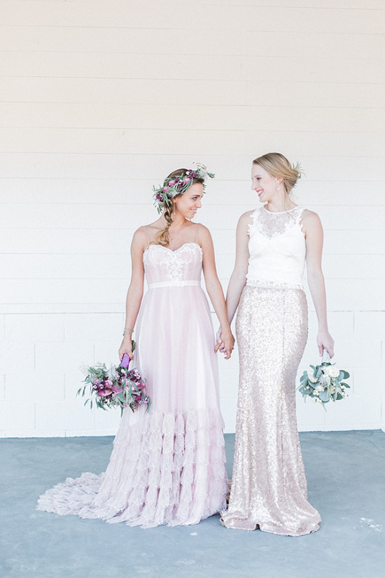 romantic and modern bridal looks