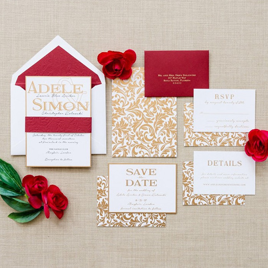 adele s wedding invitations from engaging papers