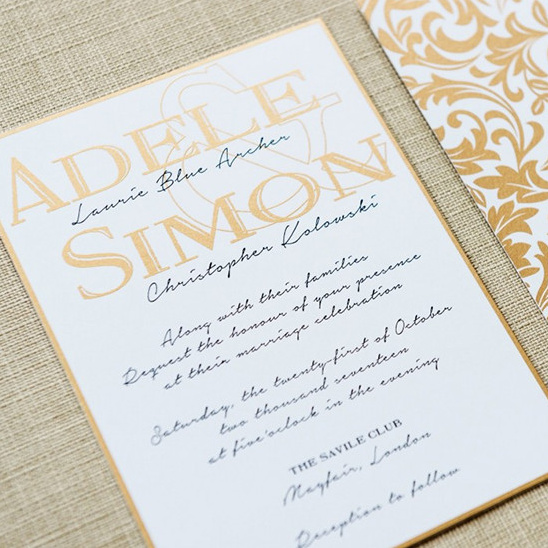 Adele's Wedding Invitations From Engaging Papers