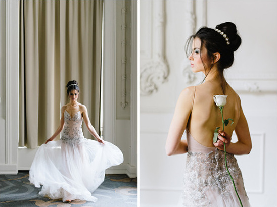 romatic and flowy Inbal Dror wedding dress