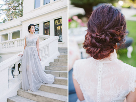 beautiful wedding hair updo style