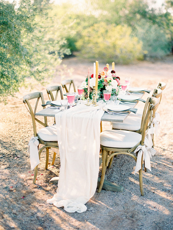 Beautifully styled reception table