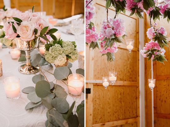 Florals and candles decor
