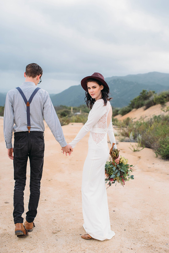 Boho bride fashion