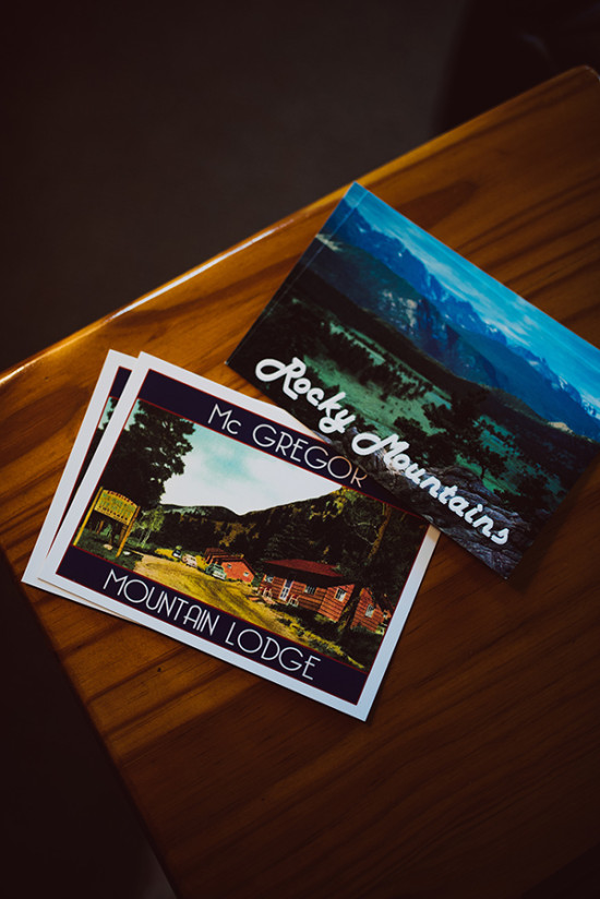 Colorado postcards with wedding vows written on them