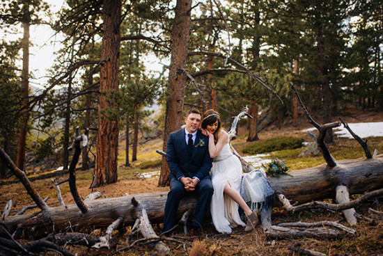 rustic wedding in the rocky moutains