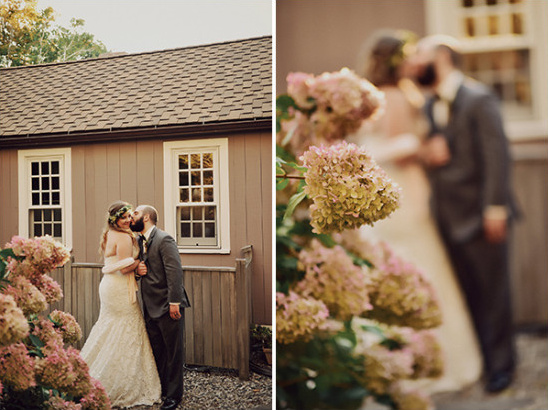 sweet private moment bride and groom photo idea