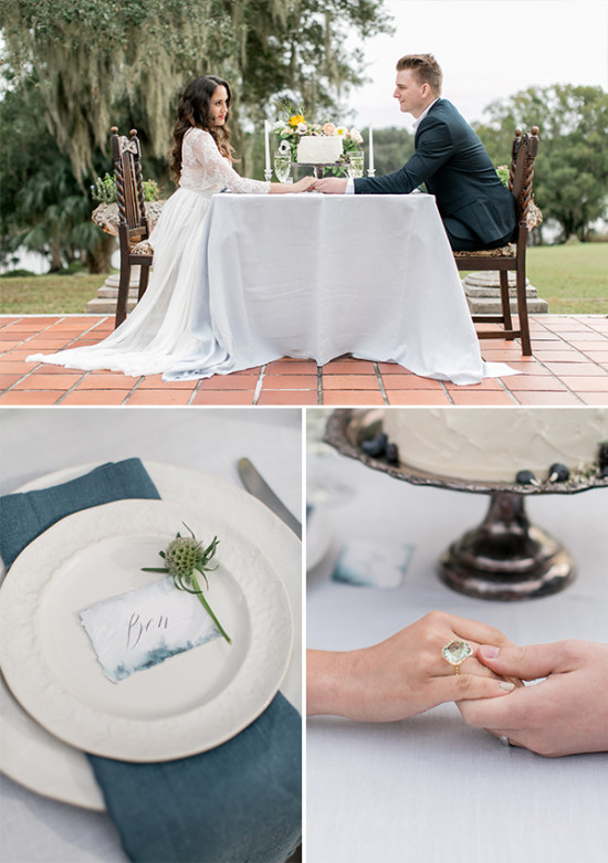 intimate wedding sweetheart table