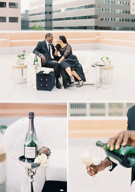 champagne engagement drinks