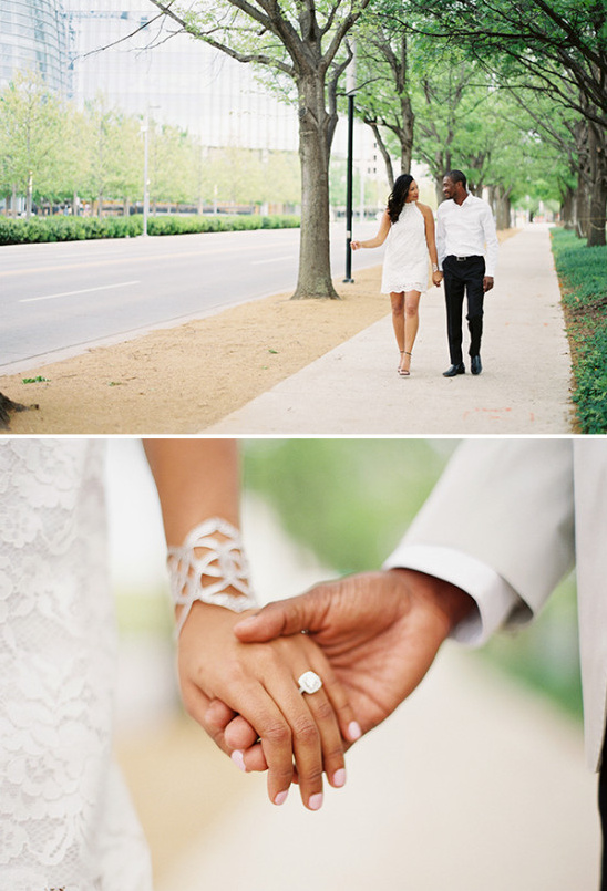 white engagement outfits