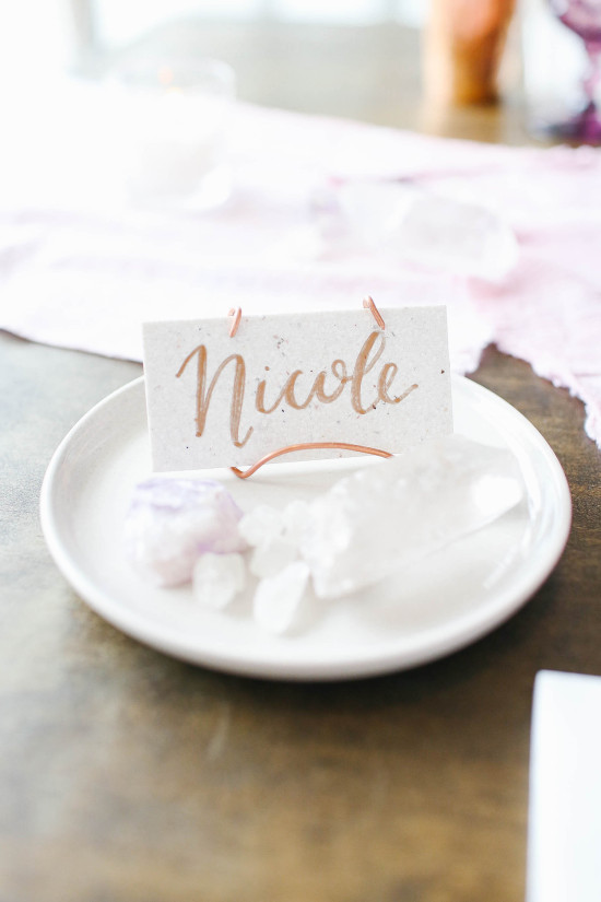 Calligraphy placecard