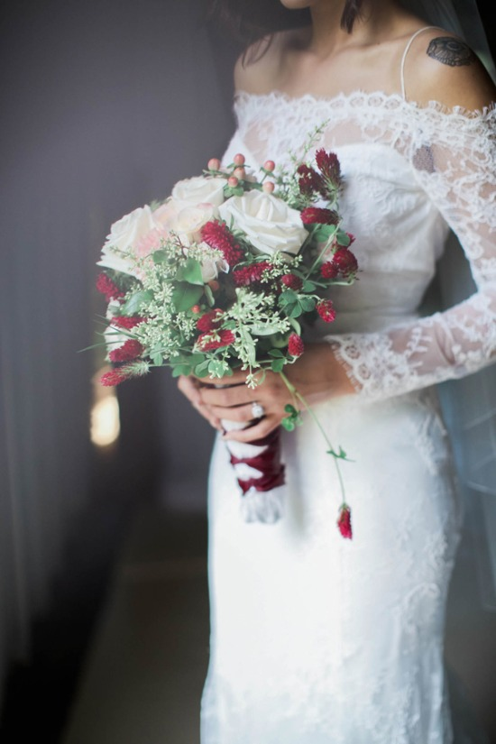 Dramatic Red, Pink and Green Farmhouse Wedding Ideas