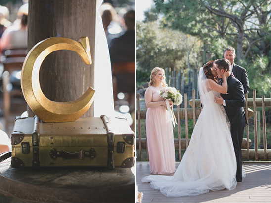 Vintage Gold And White Florida Wedding