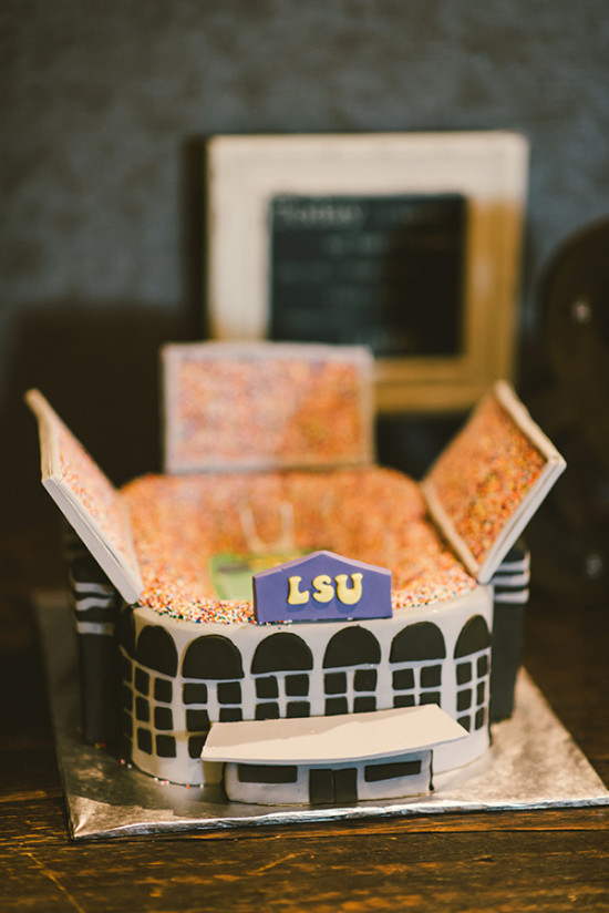football stadium grooms cake