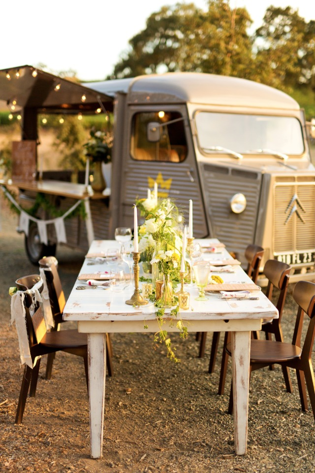 Rustic industrial wedding decor and details