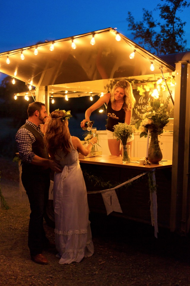 Wedding drink station idea