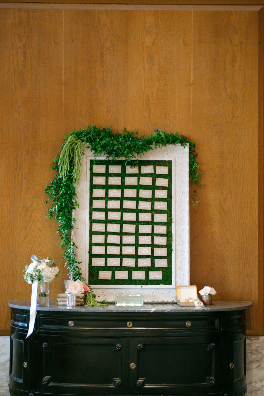 wedding escort card display