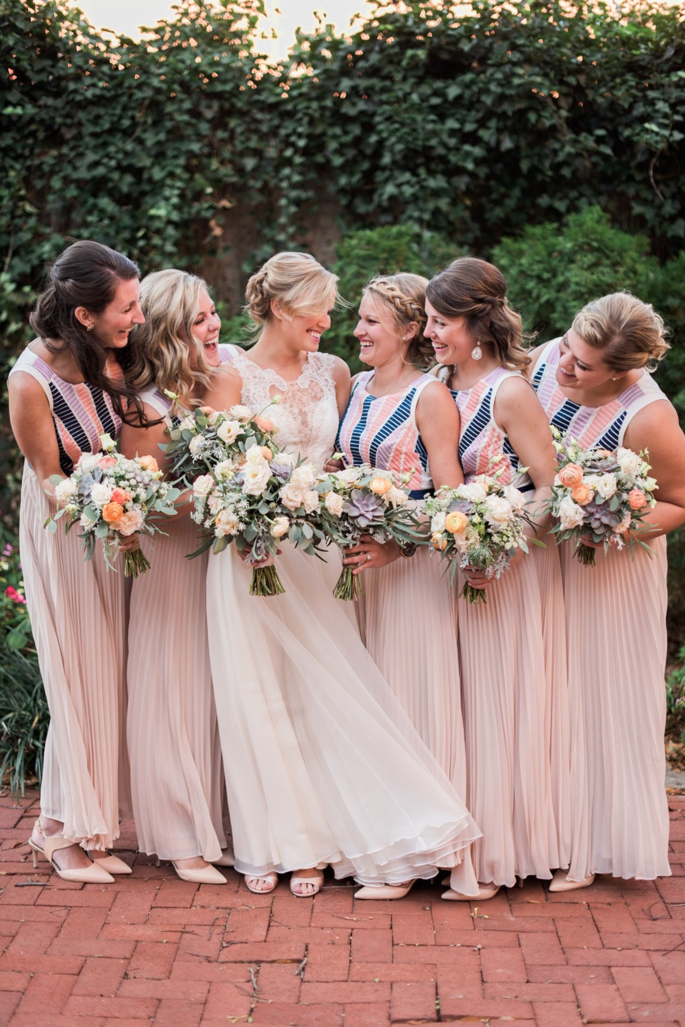 BHLDN bridesmaids dresses in vintage style