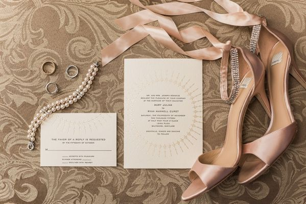 Blush and Gold Vintage Style Wedding