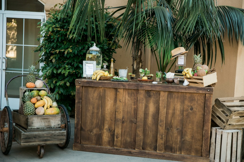 Cuban inspired wedding bar