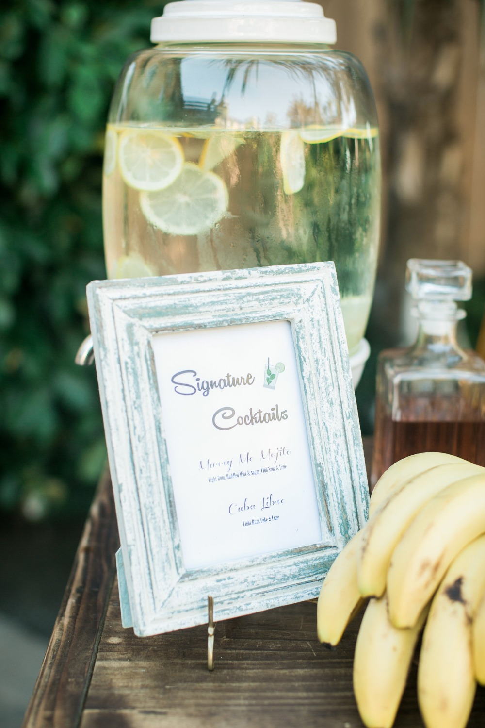 Wedding sign for signature cocktails