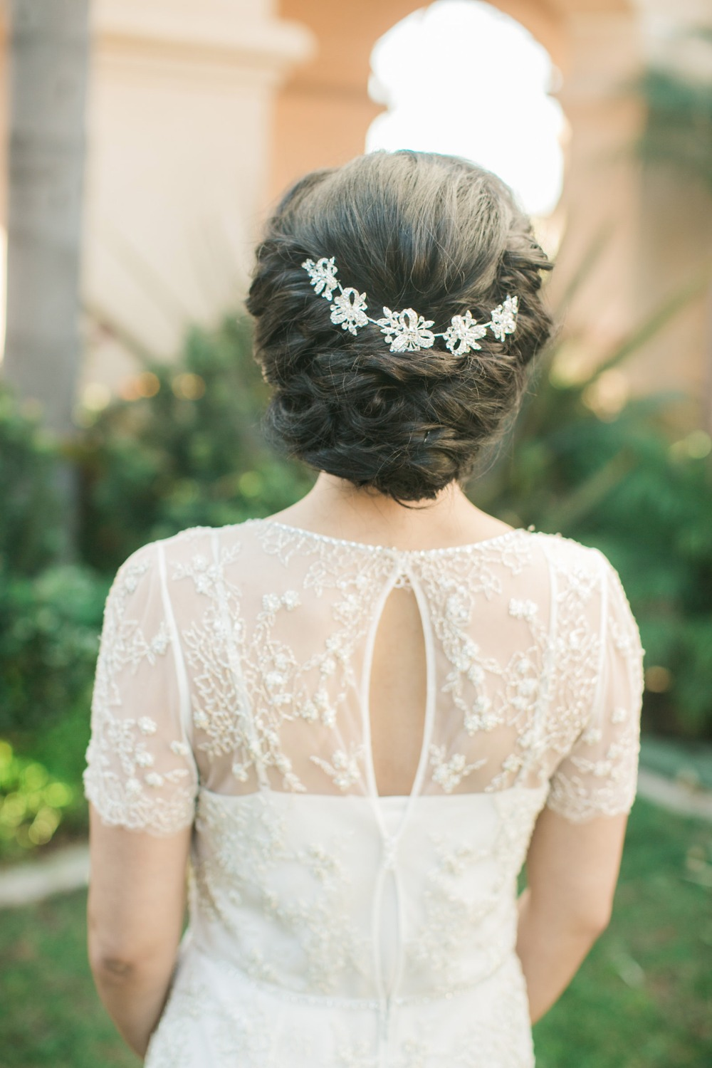 Romantic wedding hair idea