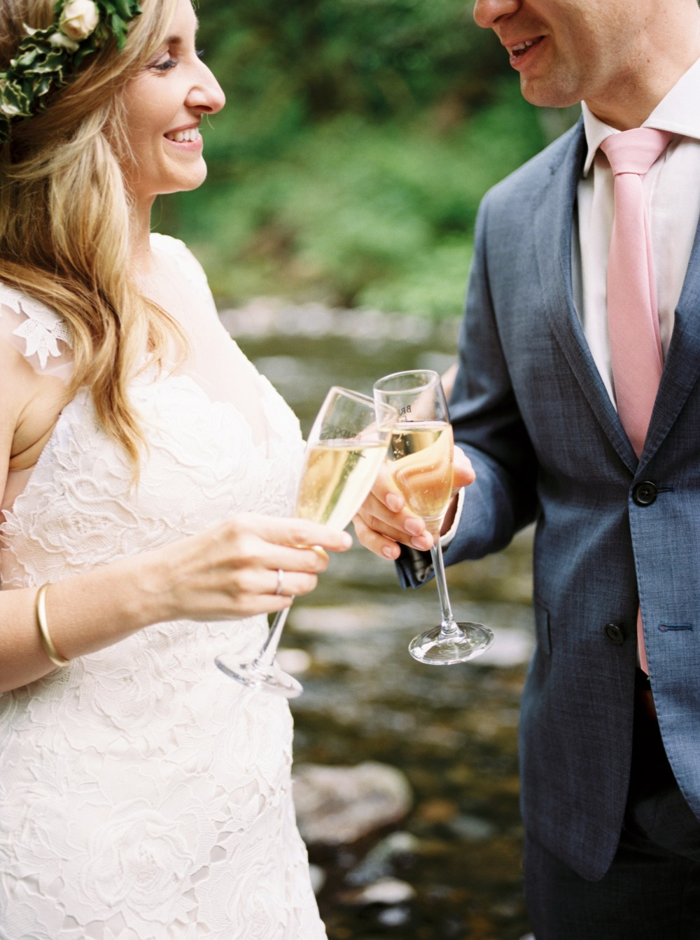 Champagne toast elopement idea