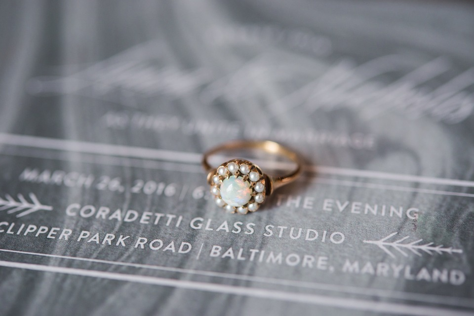 vintage wedding ring from Trumpet & Horn