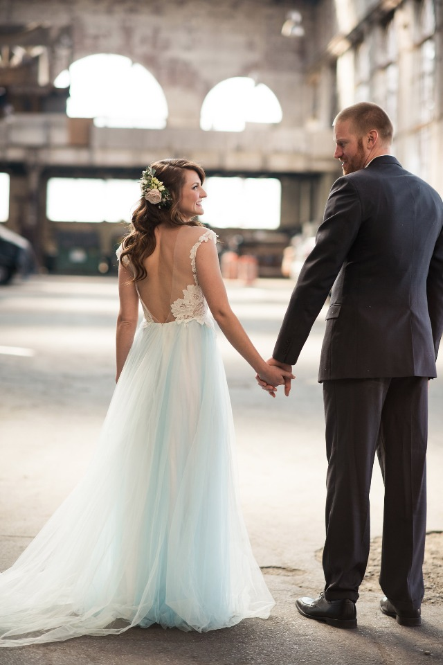soft and sweet meets gritty and industrial wedding ideas