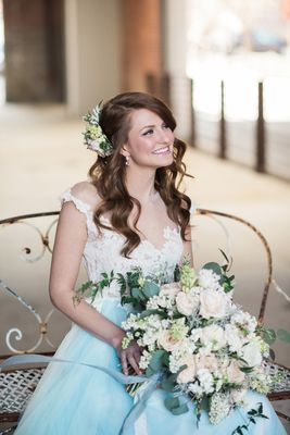 Romantic Industrial Aqua and Grey Wedding Ideas
