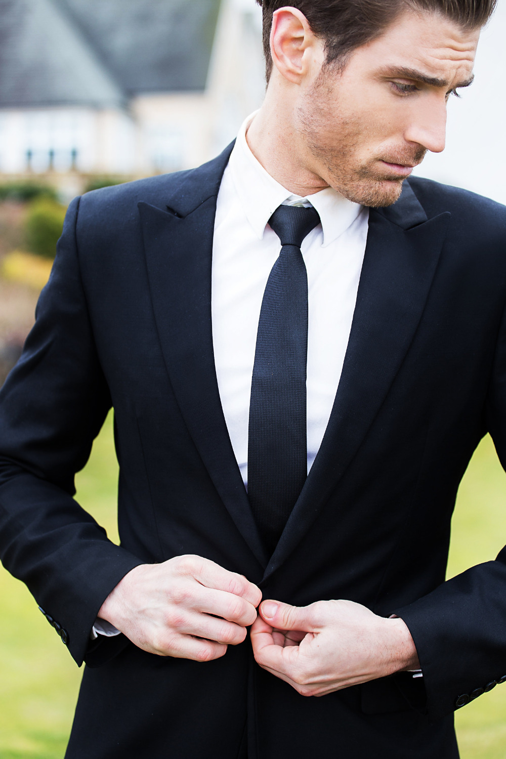 classic handsome groom attire