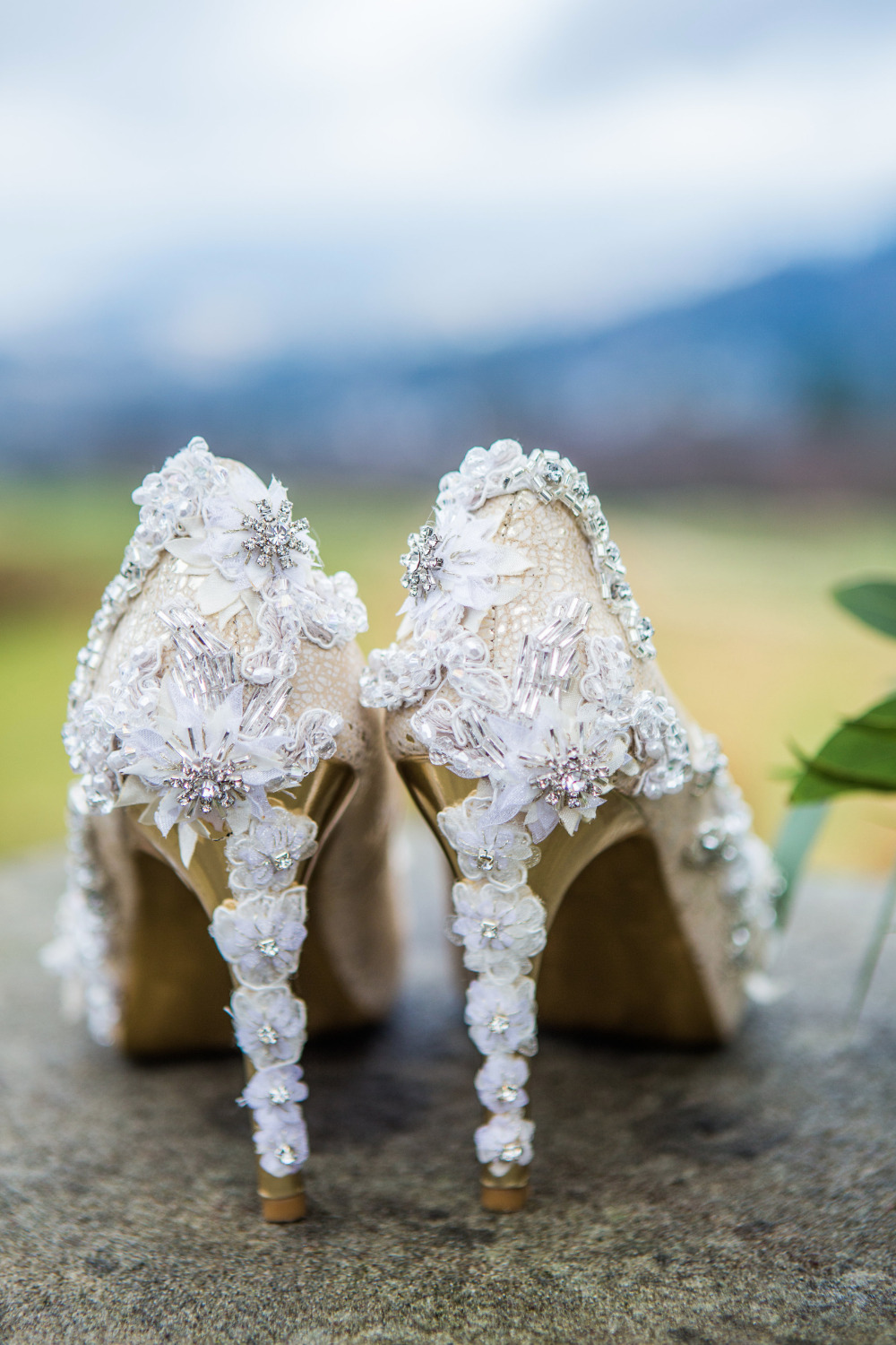 beautiful beaded wedding heels