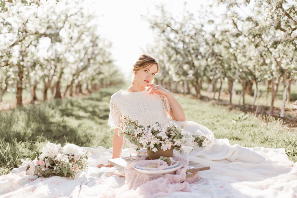 how to have a wedding in an orchard