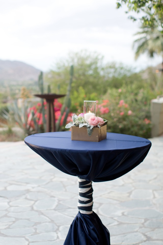 navy cocktail tables
